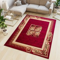 Kusový koberec ATLAS quatro - červený/béžový