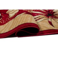 Kusový koberec ATLAS garden - béžový/červený
