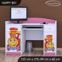 SKLADEM: Dětský psací stůl LOKOMOTIVA - TYP 1 - světlá hruška