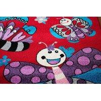 Dětský koberec MOTÝLI - červený