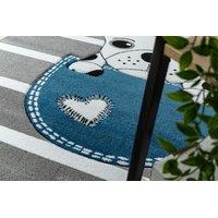 SKLADEM: Dětský kusový koberec PetMe Francouzský buldoček - šedý - 180x270 cm