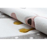 SKLADEM: Dětský kusový koberec PetMe Král králík - šedý - 200x290 cm