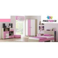 SKLADEM: Noční stolek YELLOW - jasan coimbra/růžový