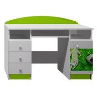 SKLADEM: Psací stůl FOTBALISTA S MÍČEM  - TYP B - bílá + zelená