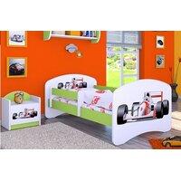 SKLADEM: Dětská postel bez šuplíku 140x70cm FORMULE F1 - zelená