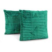 Povlak na polštář LEO 40x40 cm - smaragdově zelený