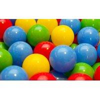Sada plastových barevných kuliček MIX - 100 ks -  modrá, červená, zelená a žlutá