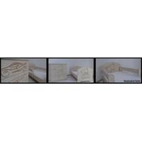 SKLADEM: Dětská postel s výřezem MÉĎA se šuplíkem - přírodní 140x70 cm