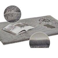 Kusový koberec RABBIT DELUXE - šedý - imitace králičí kožešiny - 135x180 cm