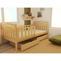 SKLADEM: Dětská postel z MASIVU 200x80cm bez šuplíku - DP014 - bezbarvý ekologický lak