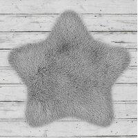 Dětský plyšový koberec SOFT STAR 60x60 cm - šedý