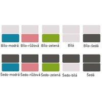 SKLADEM: Vyvýšená dětská postel TWISTER 184x80 cm - Farma - šedá/modrá + matrace