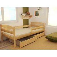 SKLADEM: Dětská postel z MASIVU 160x70cm bez šuplíku - DP017 - bez povrchových úprav