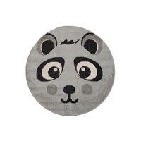 Dětský kulatý koberec Happy M PANDA - šedý