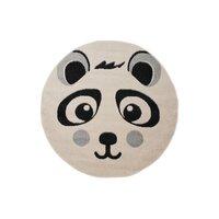 Dětský kulatý koberec Happy M PANDA - bílý
