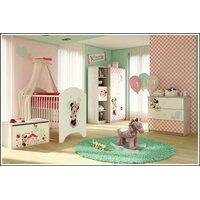 SKLADEM: Dětská postel Disney se šuplíkem - MYŠKA MINNIE 140x70 cm + 2x krátká bariérka