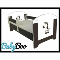 SKLADEM: Dětská postel se šuplíkem HNĚDÁ ŽIRAFA 140x70 cm