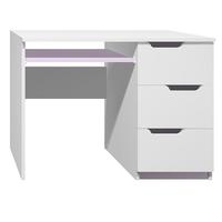 SKLADEM: Psací stůl - MODERN TYP A - levé provedení - bílý+tyrkysový