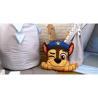 Dětský koš na hračky LUXURY - TLAPKOVÁ PATROLA - šedo/modrý
