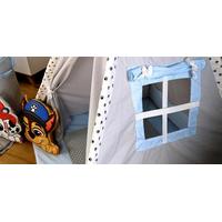 Dětský stan TEEPEE (TÝPÍ) LUXURY s doplňky - TLAPKOVÁ PATROLA - šedo/modrý