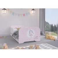 Dětská postel KIM - PRINCEZNA 140x70 cm + MATRACE