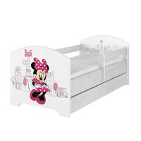 SKLADEM: Dětská postel Disney - MYŠKA MINNIE PARIS 140x70 cm - norská borovice + MATRACE