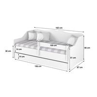 SKLADEM: Dětská postel  LULLU 160x80cm - MINNIE LOVE - bez zábran