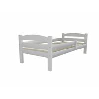 SKLADEM: Dětská postel z MASIVU 200x90cm bez šuplíku - DP005 - bílá