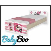 SKLADEM: Dětská postel MAX se šuplíkem Disney - MINNIE II 180x90 cm + 2x krátká bariérka