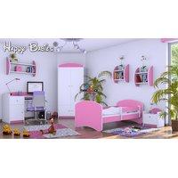 Dětská postel 140x70 cm - RŮŽOVÁ