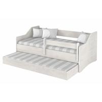 SKLADEM: Dětská postel s přistýlkou LULLU 160x80cm - norská borovice II. + zábrana k posteli