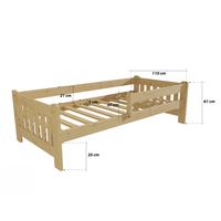 Dětská postel z MASIVU 180x80 cm SE ŠUPLÍKY - DP022