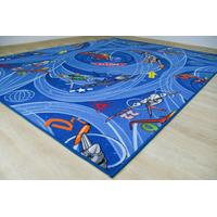 Dětský koberec LETADLA modrý