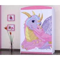 SKLADEM: Dětská skříň DRAK - TYP 11 - růžová