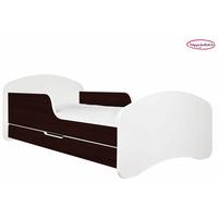 SKLADEM: Dětská postel se šuplíkem 140x70cm BÍLÁ/KAŠTAN WENGE + matrace ZDARMA!