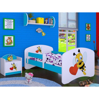 Dětská postel bez šuplíku 160x80cm VČELIČKA A SRDÍČKO