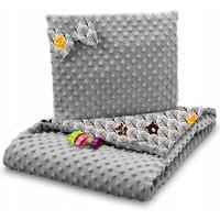 Dětská deka do kočárku s polštářkem a motýlkem - PREMIUM set 3v1 - Skandinávský les hnědý s šedou minky
