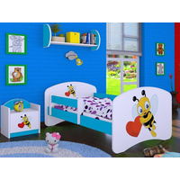 Dětská postel bez šuplíku 180x90cm VČELIČKA A SRDÍČKO