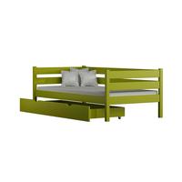 Dětská postel z masivu KARAS 2 - 180x90 cm - růžová