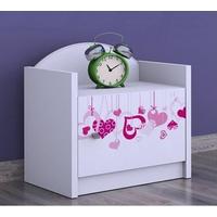 Dětský noční stolek FALL IN LOVE - TYP 3