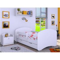 Dětská postel se šuplíkem 140x70cm BEZ MOTIVU - bílá