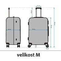 Moderní cestovní kufry RAINBOW
