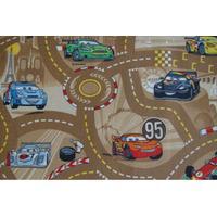 Dětský koberec CARS hnědý 1