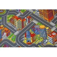 Dětský koberec ULIČKY BIG CITY šedé