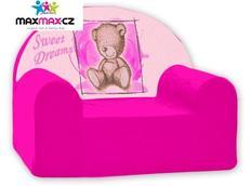 Dětské křesílko SWEET DREAMS - růžové