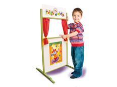 Dětské dřevěné divadlo s oponou