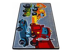 Dětský koberec KIDS Cars - šedý