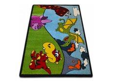 Dětský koberec KIDS Dino - zelený