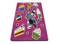 Dětský koberec KIDS Kočička - růžový