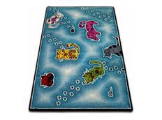 Dětský koberec KIDS Kočičky - modrý